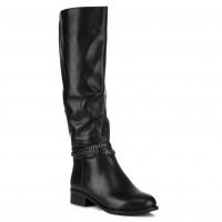 Сапоги женские кожаные на каблуке Brocoli