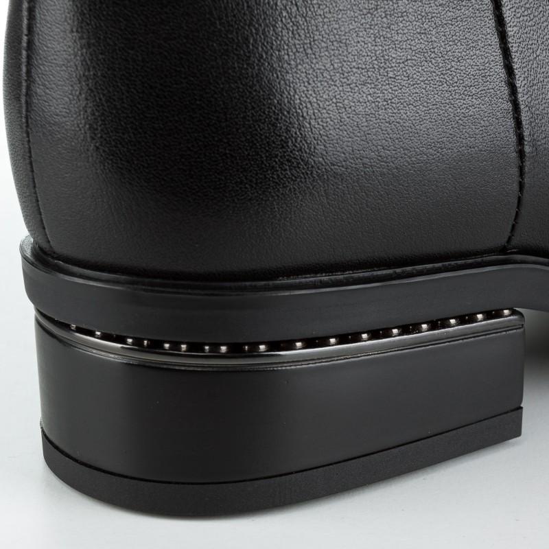 Чоботи жіночі шкіряні на каблуку Brocoli