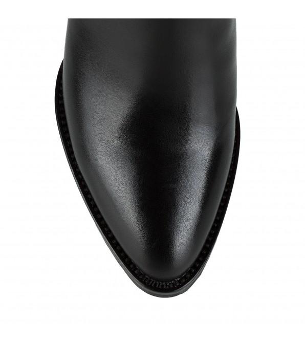 Чоботи жіночі шкіряні на широкому каблуці Balidoner класичні з пряжкою