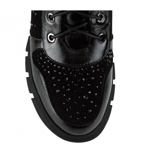 Черевики жіночі зимові чорні на платформі Polann