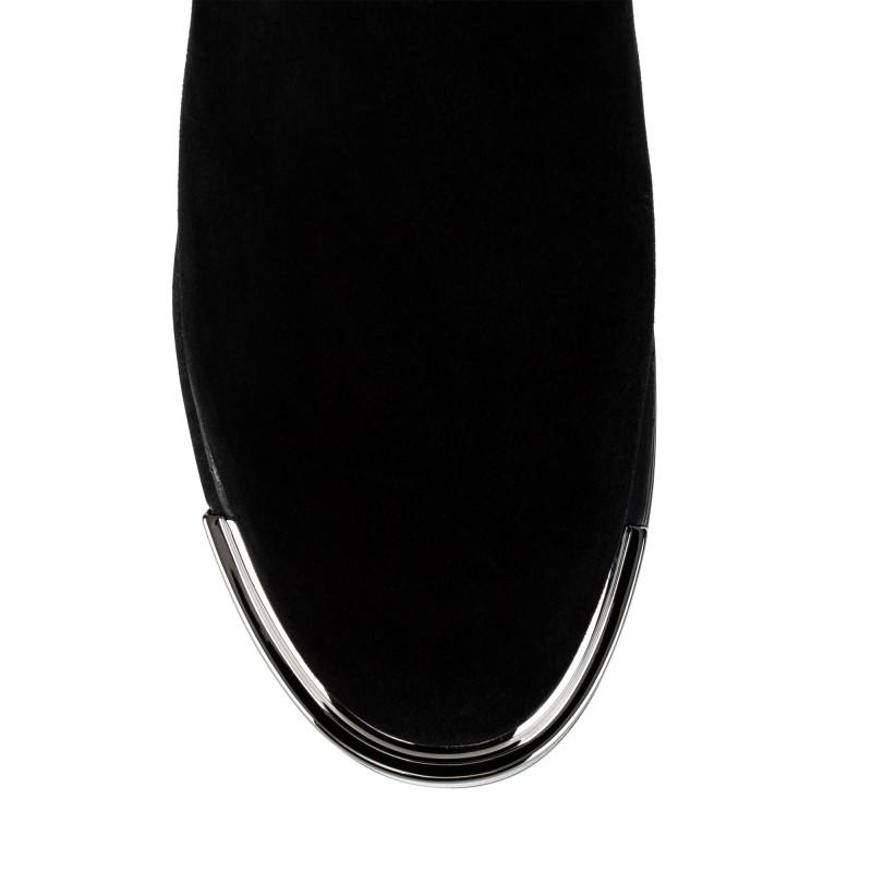 Ботфорти жіночі замшеві чорні на платформі Molared
