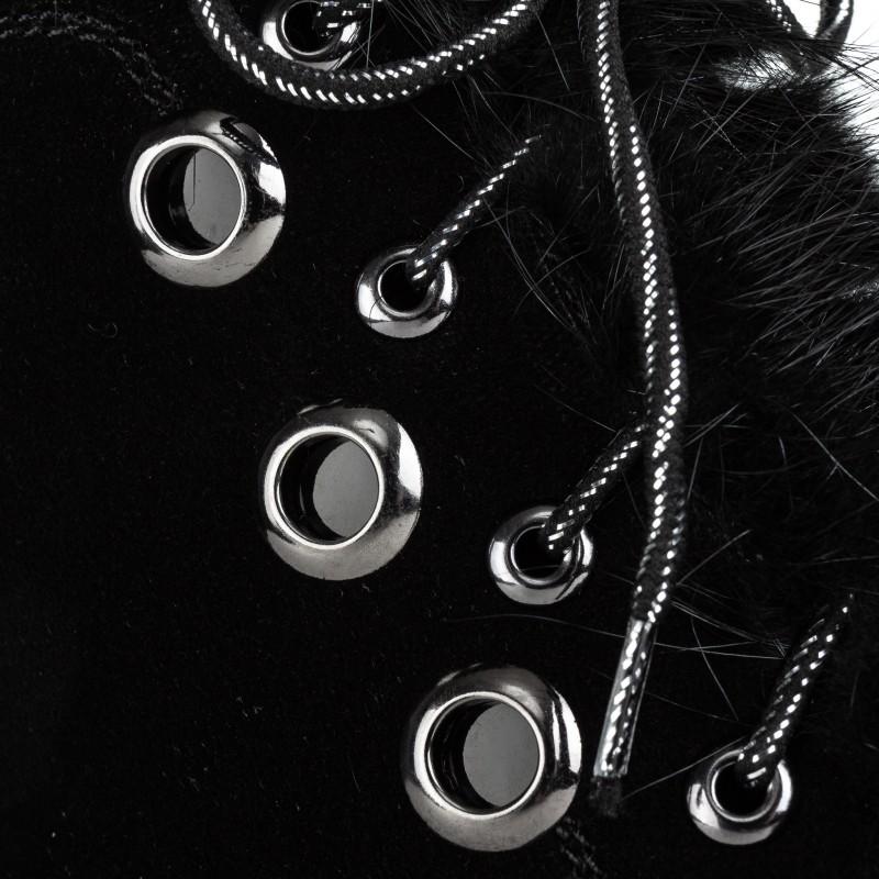 Черевики жіночі замшеві на товстій платформі Molared чорні