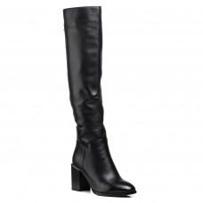 Ботфорты женские кожаные на толстом каблуке Vidorcci