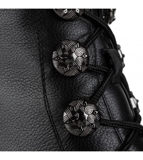 Черевики жіночі шкіряні на товстому каблуці Vidorcci