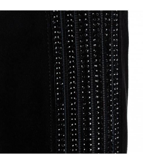 Чоботи жіночі замшеві декоровані чорними стразами Lady Marcia