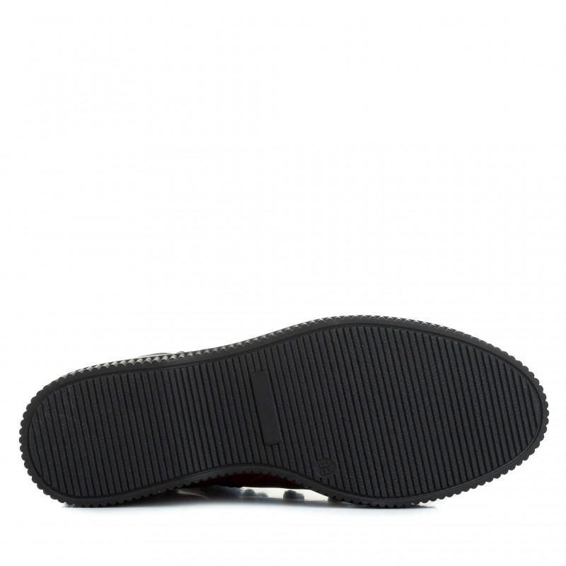 Черевики жіночі шкіряні бордові спортивні Miratini на шнурках