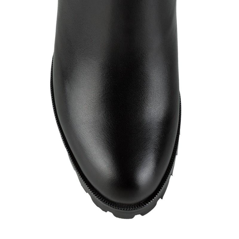 Чоботи жіночі шкіряні на зручному каблуці Miratini