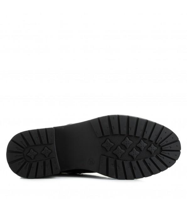 Черевики жіночі шкіряні на шнурівках Farinni на зручному каблуці