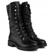 Полусапоги женские кожаные черные на каблуке C.Clouds