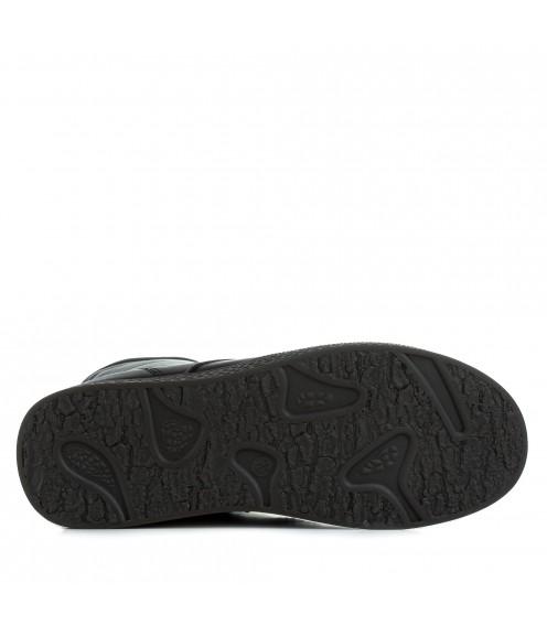 Черевики жіночі шкіряні зимові без каблука Meegocomfort