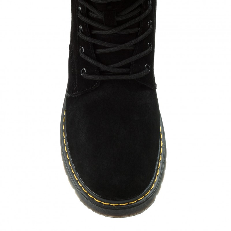 Черевики жіночі чорні зимові на шнурівці Farinni