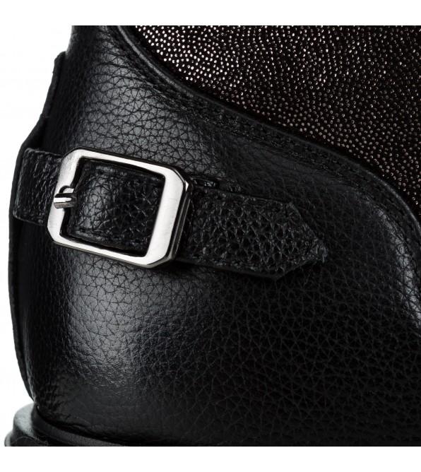 Черевики жіночі шкіряні бронзові на шнурівках Sp.Lion