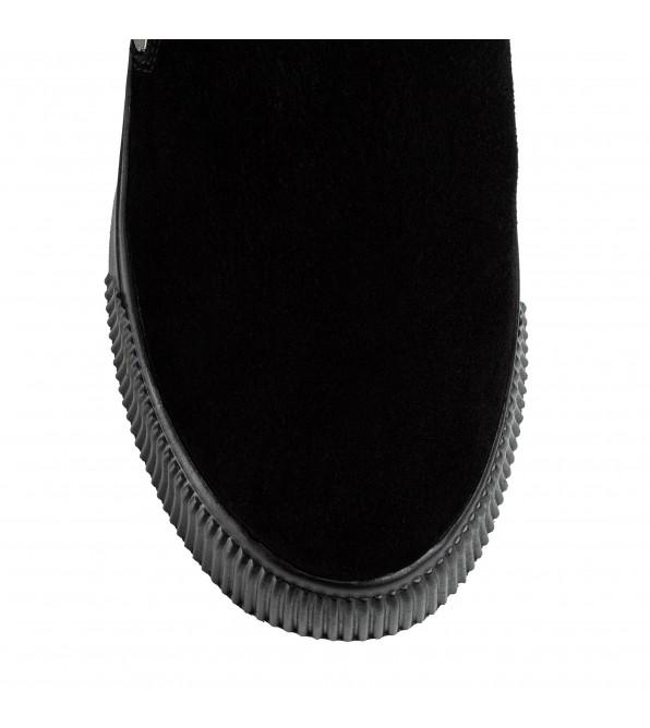 Черевики жіночі замшеві з декоративним ремінцем SprinkSolo на масивній платформі
