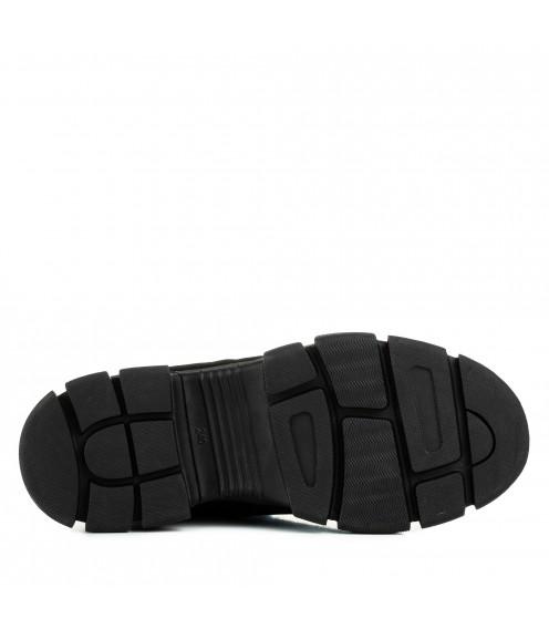 Черевики жіночі замшеві на шнурівках Punto Blu замшеві зі шкіряними вставками на платформі