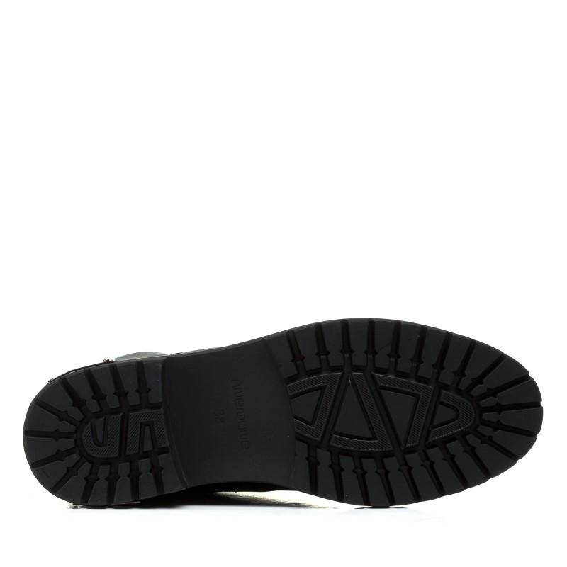 Черевики жіночі зимові чорні на низькому ходу  Anemone