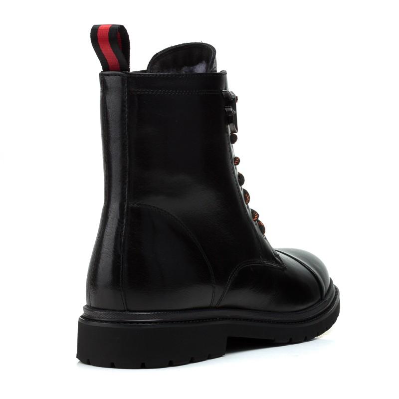 Ботинки женские кожаные зимние на шнуровке Anemone