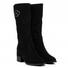 Полусапожки женские замшевые черные на каблуке My classic