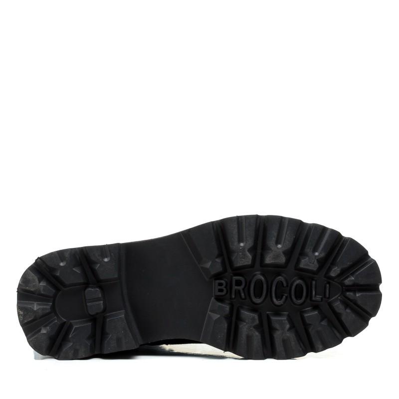 Черевики жіночі замшеві чорні зимові Brocoli