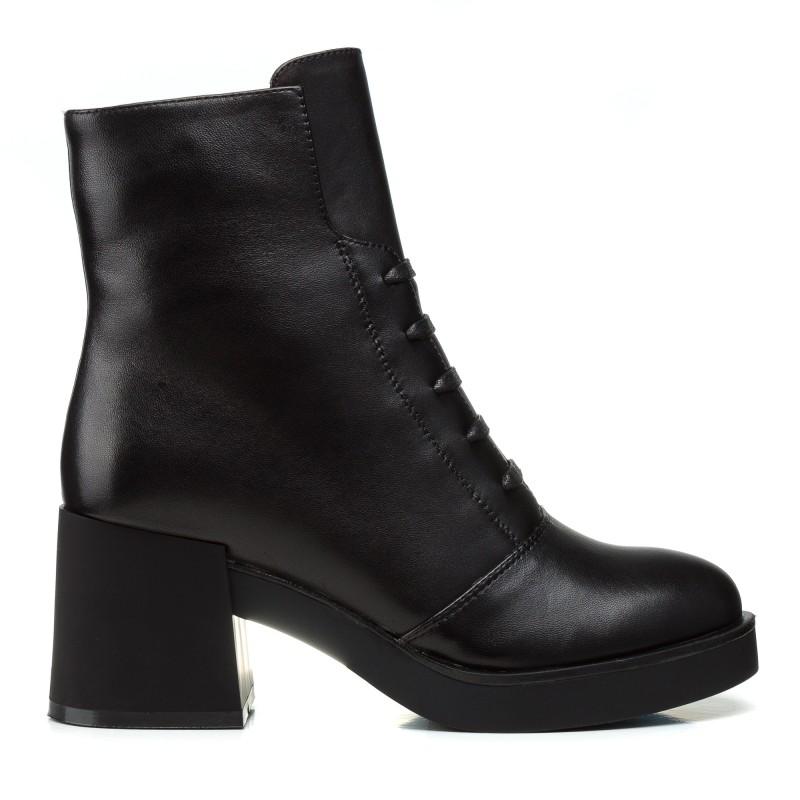 Черевики жіночі шкіряні чорні зимові Lady marcia