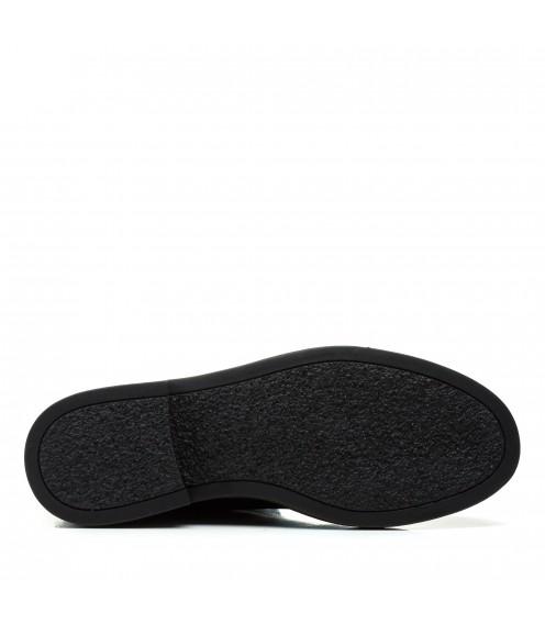 Черевики жіночі шкіряні зимові чорні Vidorcci