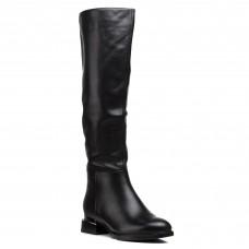 Сапоги женские кожаные зимние на каблуке Vidorcci