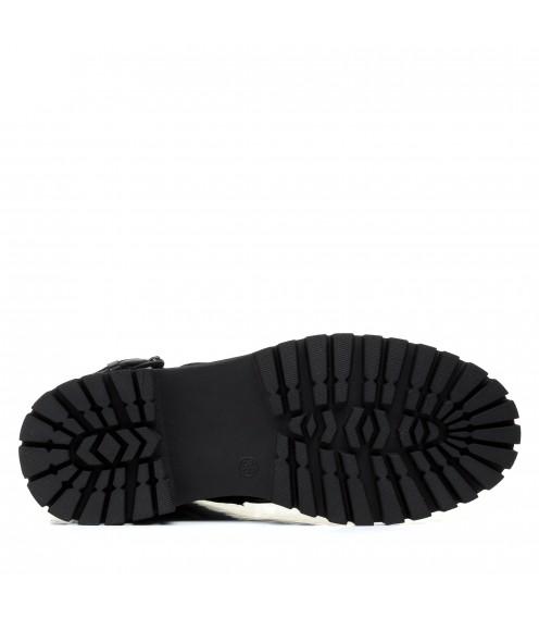 Черевики жіночі шкіряні чорні зимові mossani