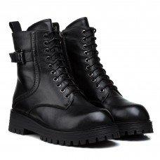 Ботинки женские кожаные черные зимние mossani