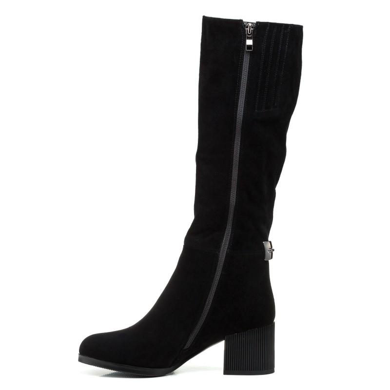 Чоботи жіночі замшеві чорні зимові Nadi bella