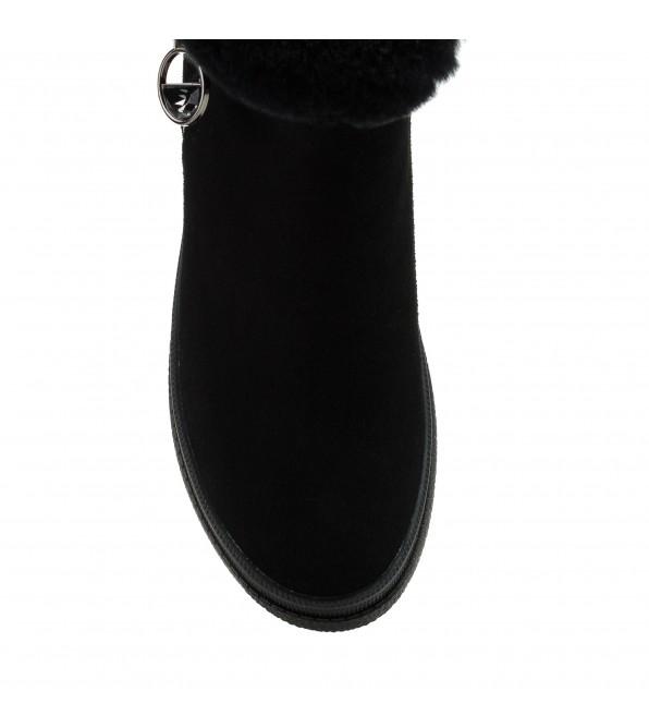 Черевики жіночі зимові на платформі чорні Lifexpert