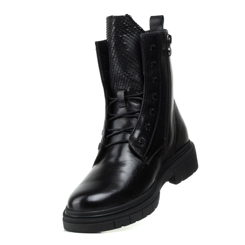 Черевики Anemone на шнурівках шкіряні чорні повсякденні