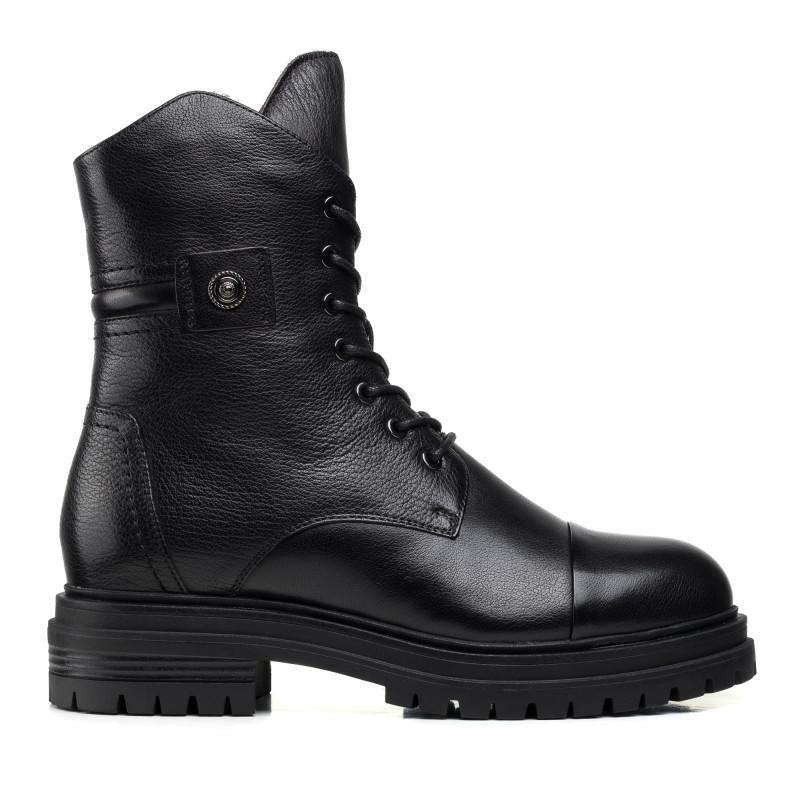 Черевики шкіряні Anemone чорні на шнурівках