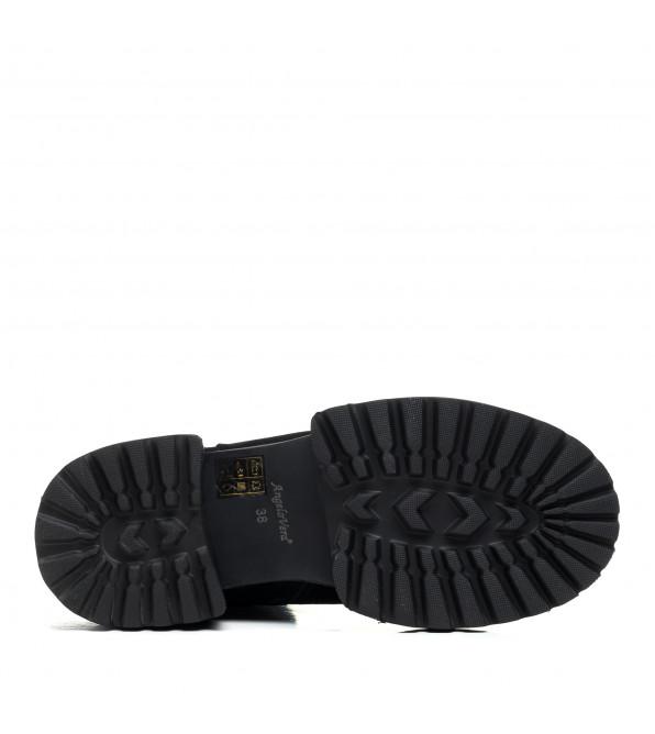 Черевики замшеві чорні на зручнному каблуці Angelo Vera