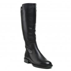 Чоботи Geronea зимові чорні класичні шкіряні на низькому каблуку
