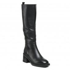 Чоботи Geronea шкіряні чорні  на зручному каблуку класичні