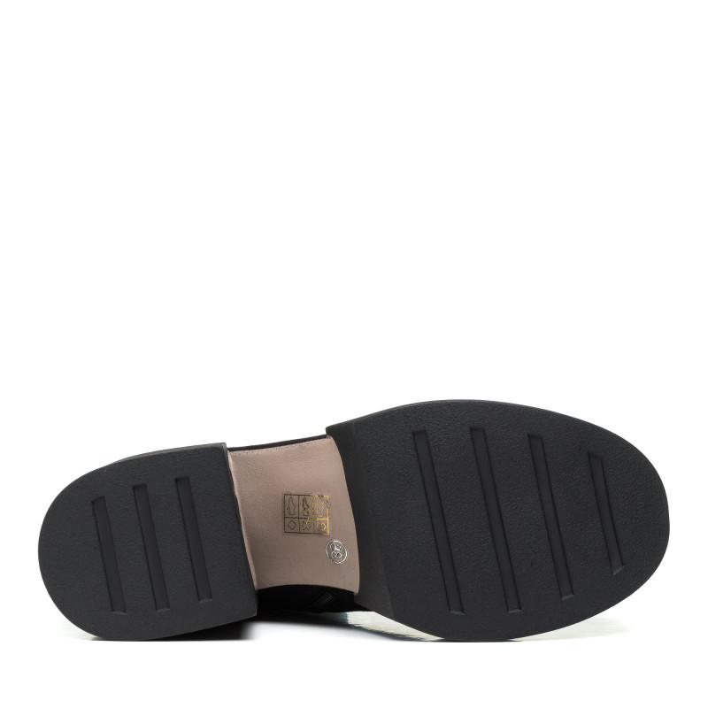 Черевики жіночі замшеві зимові чорні на  зручному каблуку My classic