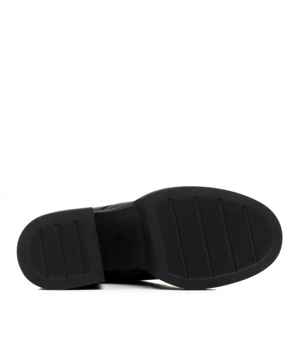 Черевики жіночі шкіряні зимові на шнурівці Kamani
