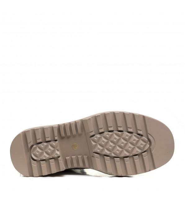 Черевики Molka білі на шнурівках стильні шкіряні