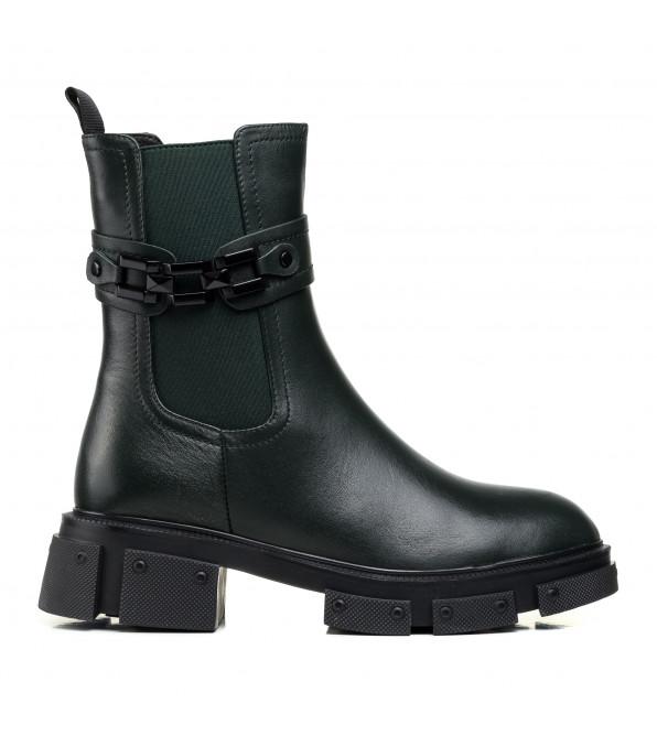 Зимові черевики Polann з пряжкою шкіряні на масивній підошві
