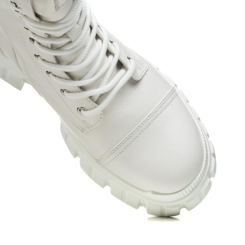 Черевики жіночі білі на шнурівці Berkonty