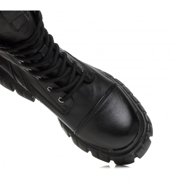 Черевики жіночі чорні на платформі Berkonty