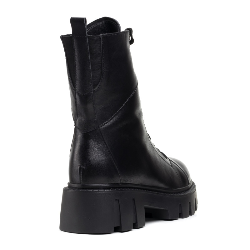 Черевики зимові шкіряні на шнурівках Melanda чорні