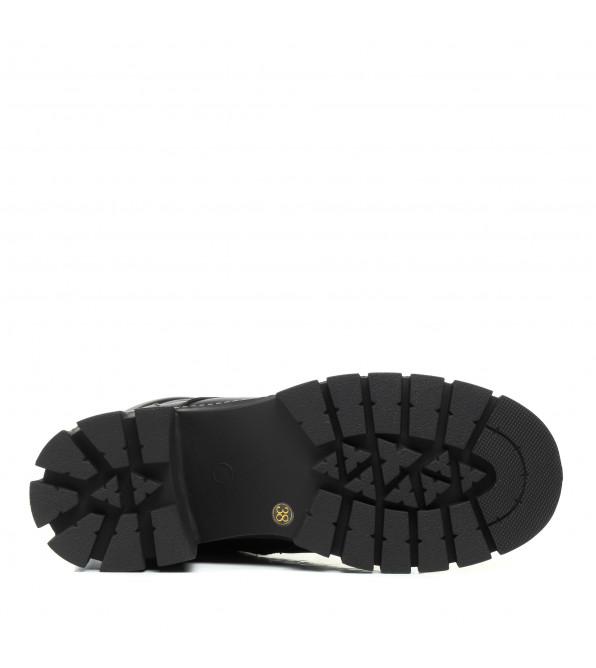 Черевики Melanda зимові шкіярні на масивному каблуку
