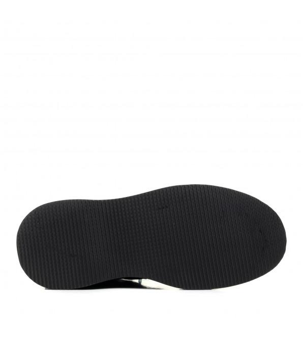 Зимові черевики Farinni чорні на платформі шкіряні