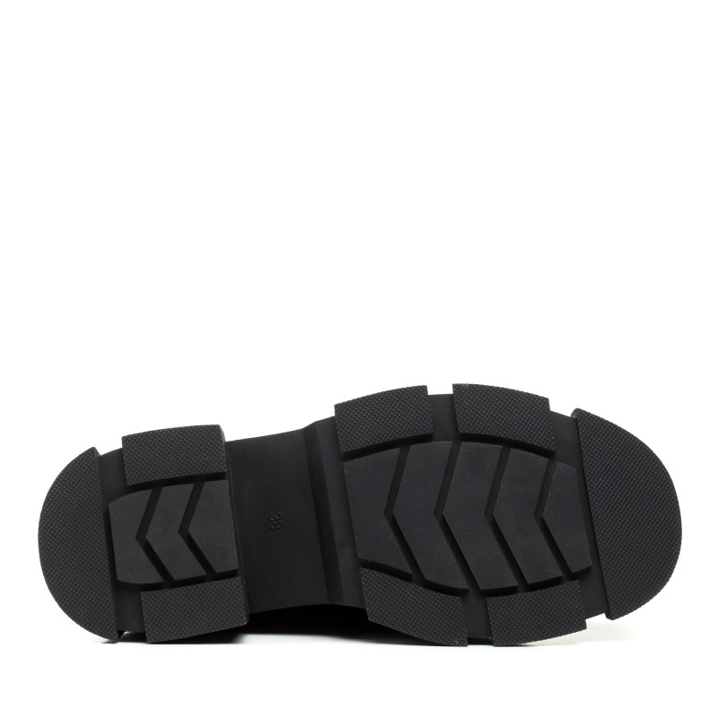 Черевики Nina Mosco чорні замшеві на масивній підошві з ланцюжком