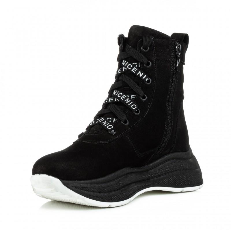 Черевики жіночі замшеві спортивні на шнурівках Teona