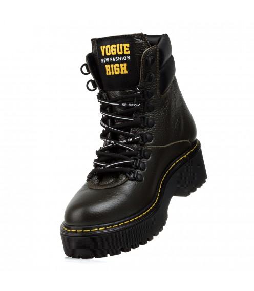 Ботинки женские кожаные зимние на шнуровке Teona