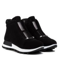 Ботинки женские замшевые зимние на платформе Ditas