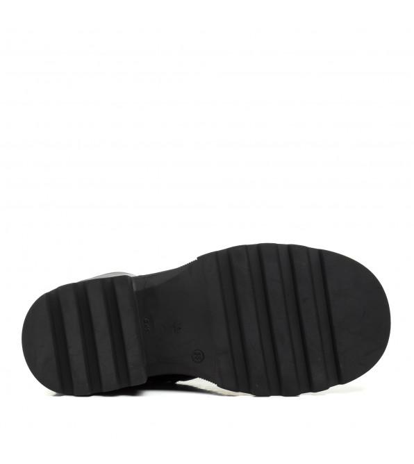 Черевики жіночі шкіряні зимові на шнурівці Phany