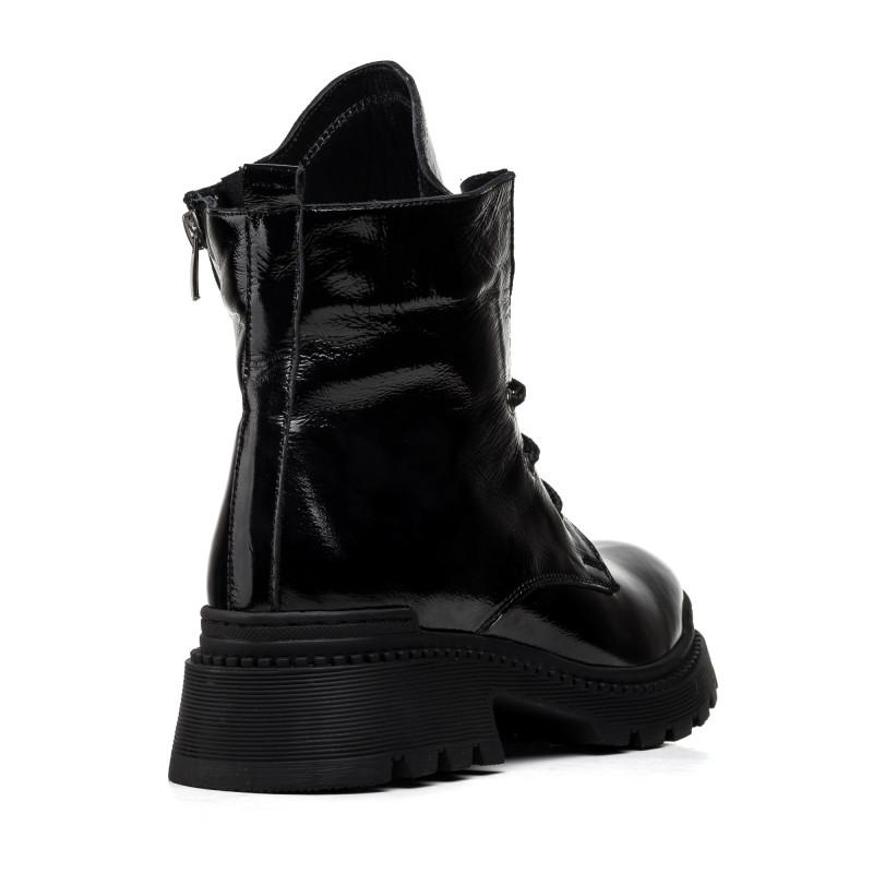 Черевики жіночі чорні на шнурках Aquamarin