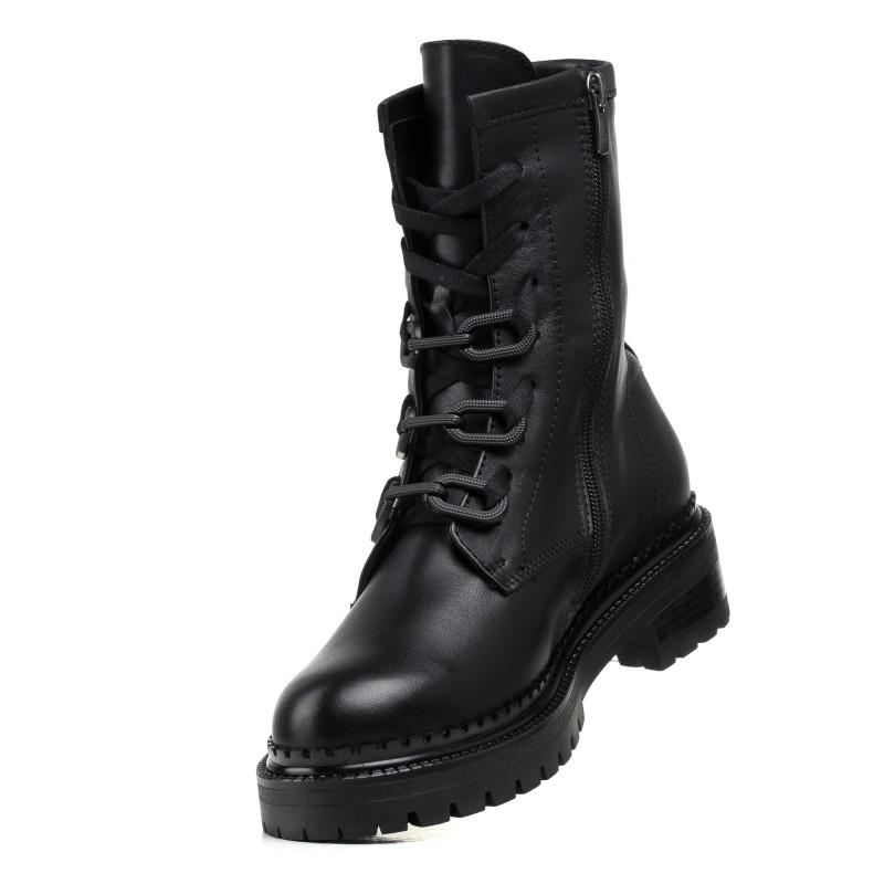 Черевики Aquamarin чорні шкіряні на шнурівках зручні
